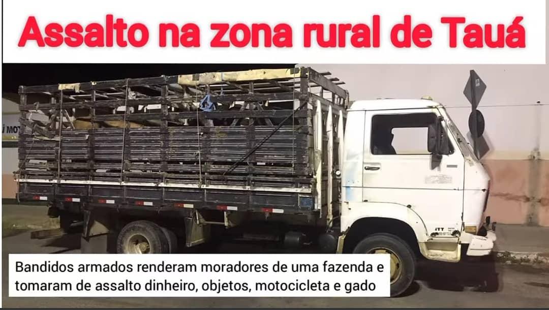 Assalto em fazenda na zona rural de Tauá; CPRaio recupera produtos roubados e efetua prisão