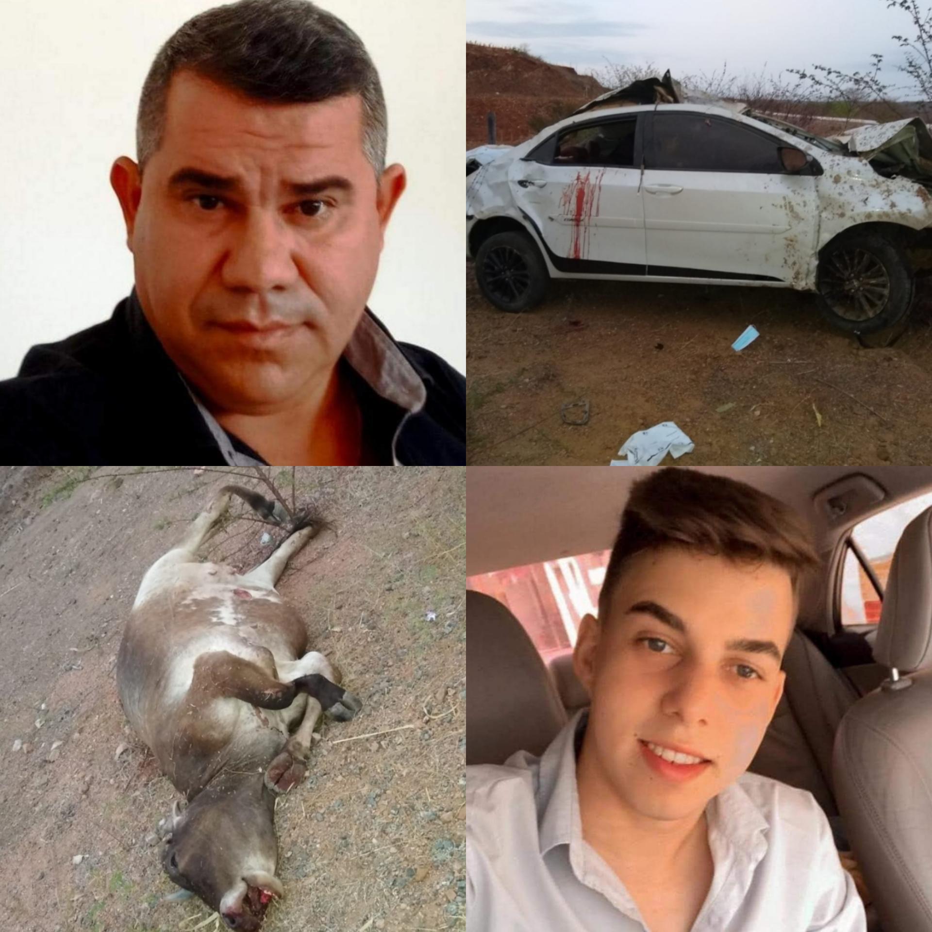 Tenente-coronel da PM morre em acidente na CE-351, entre Quiterianópolis e Parambu